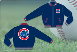 JH Design MLB Chicago Cubs Wool Reversible Jacket - $109.95