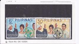 President Ferdinand Marcos Oath Taking Dec 30, 1965 Philipipne 2 stamps - $1.95