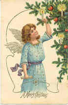 A Merry Christmas Vintage Post Card - $6.00