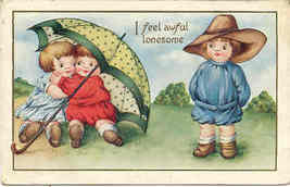 I Feel Awful Lonesome Vintage  Post Card - $5.00