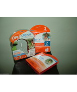 Off! Clip On Fan Mosquito Bug Repellent Starter Kit+4x Reffils(2 Packs).NIB - $27.71