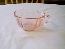 Hocking Glass Pink Princess Cup & Saucer - $14.85