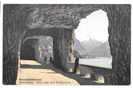 Switzerland Lake Lucerne Axenstrasse Vierwaldstattersee Vintage Postcard E Goetz - $4.99