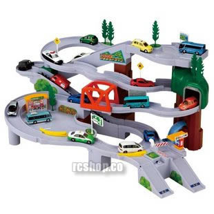 Primary image for TOMY Mountain Drive Circular Highway Play set railway road track Takara Tomica