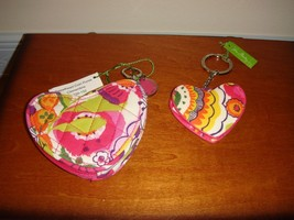 Vera Bradley Clementine Sweetheart Coin Purse And Heart Keychain - $42.99