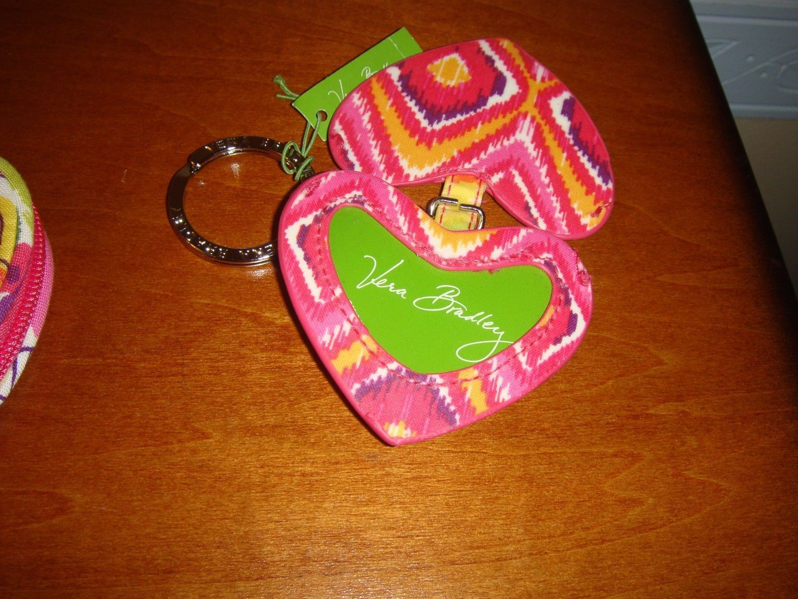 Vera Bradley Clementine Sweetheart Coin Purse And Heart Keychain