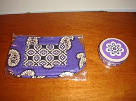 Vera Bradley Simply Violet Clip Zip ID And Sugarfree Peppermints - $24.99