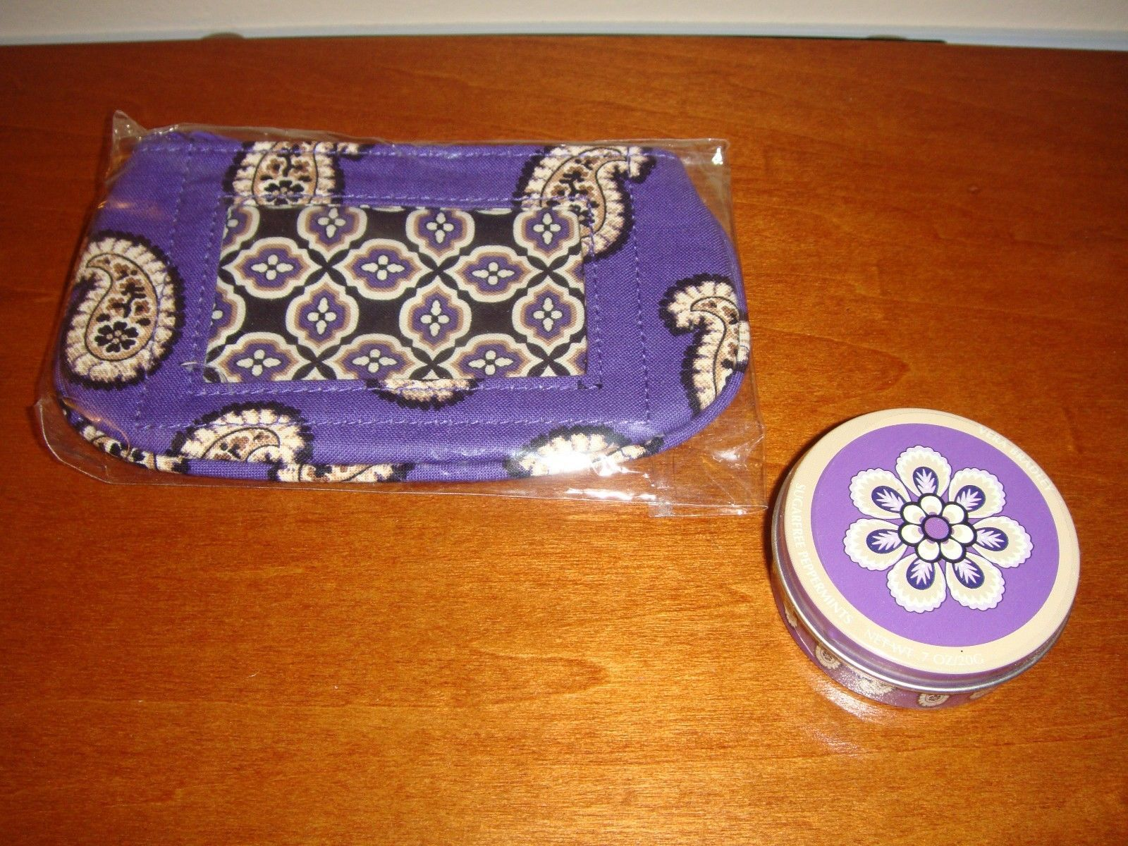 Vera Bradley Simply Violet Clip Zip ID And Sugarfree Peppermints
