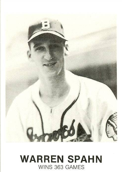 Primary image for 1984 warren spahn milwaukee braves renata galasso baseball card