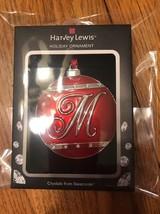 "Swarovski Crystal Holiday Ornament ""M"" Ships N 24h - $47.51"