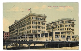 Atlantic City NJ Hotel Rudolf Boardwalk Vintage 1911 Postcard - $5.99