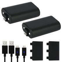 Xbox One Battery Pack 2PCS x 1200 mAh Xbox One Rechargeable Battery and 5FT Micr - $25.19