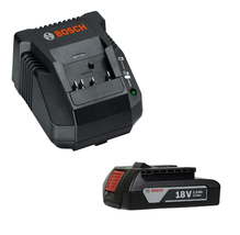 New Bosch 14.4V/18V LI-ION Battery Charger BC660 &1.5Ah Slimpack Battery BAT611 - $86.80