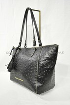 NWT! Dooney & Bourke Ostrich Embossed Leather Maxine Tote /Shoulder Bag in Black - $259.00