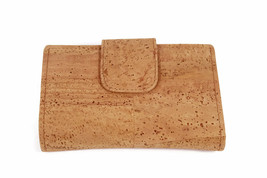 WOMEN´S GIRL LADY WALLET CORK NATURAL ORIGINAL GENUINE PORTUGUESE KORK L... - $58.10