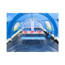 Large Family Tent 6 Man Camping Huge Dome Tunnel Blue Cabin Berth Porch ... - $512.96