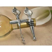 Elegant Chrome Calla Lily Wine Opener / Wine Stopper Set - 96 Sets - $420.95