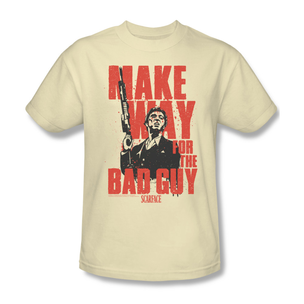 Scarface Make Way T-shirt retro 80's movie 100% cotton graphic tee UNI679