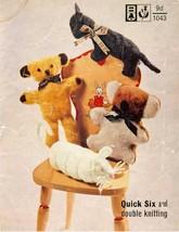 Vintage knitting pattern to make adorable toys Bellmans 1043 PDF - $3.00
