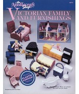 Victorian Doll Family and Furnishings TNS Plastic Canvas Pattern Leaflet - $13.47