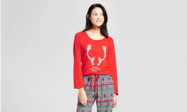 NWOT Juniors Wondershop Reindeer Lady Doe Fair Isle Holiday Sleepshirt R... - $2.96