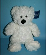 "Dan Dee Teddy Bear 12"" White Swirl Plush Black Nose Stuffed Animal New S... - $21.28"