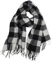 Buffalo Check Plaid Extra Large Warm Soft Wool Feel Scarf,  - £11.92 GBP