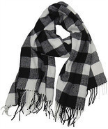 Buffalo Check Plaid Extra Large Warm Soft Wool Feel Scarf,  - $15.73