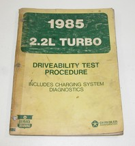 1985 Chrysler Dodge Plymouth 2.2L Turbo Driveability Test Procedure Manual - $12.82