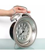 KAISER Mantel Wall Alarm Clock CHROME! Vintage XXL! 9.6 Inch Mid Century... - $275.00