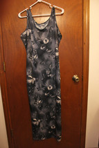 Joule Gray Floral Full Length Dress - Size Junior Large - $9.99