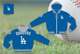 JH Design MLB LA Dodgers Hodded Jacket  - $84.95