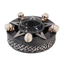 Pentagram Skulls Ashtray Figurine Made of Polyresin - $14.84