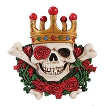 Day of The Dead Clown Skull Figurine Made of Polyresin - $23.17