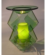 Green Electric Glass Oil or Tart Warmer - $19.95