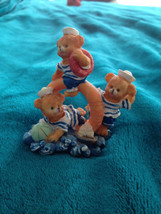 "nautical Teddy bear crew ceramic sculpture 3"" - $24.99"