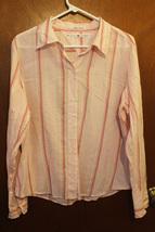 Tommy Hilfiger Pink Striped Button Down Shirt - Size 14 - $13.99