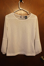 Zoey Beth White 3/4 Sleeve Top - Size Juniors Small (5) - $9.99