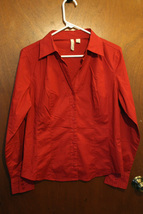 St. John's Bay Stretch Red Button Down Shirt - Size Medium - $12.99