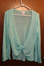 George Teal Twist Front Cover Up Top - Size Large (12/14) - $12.99