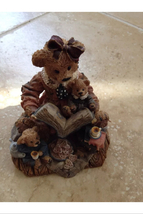 Storytime moma teddy bear and cubs ceramic figurine sculpture - $36.99