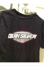 black t shirt short sleeve size large by quiksilver  - $19.99