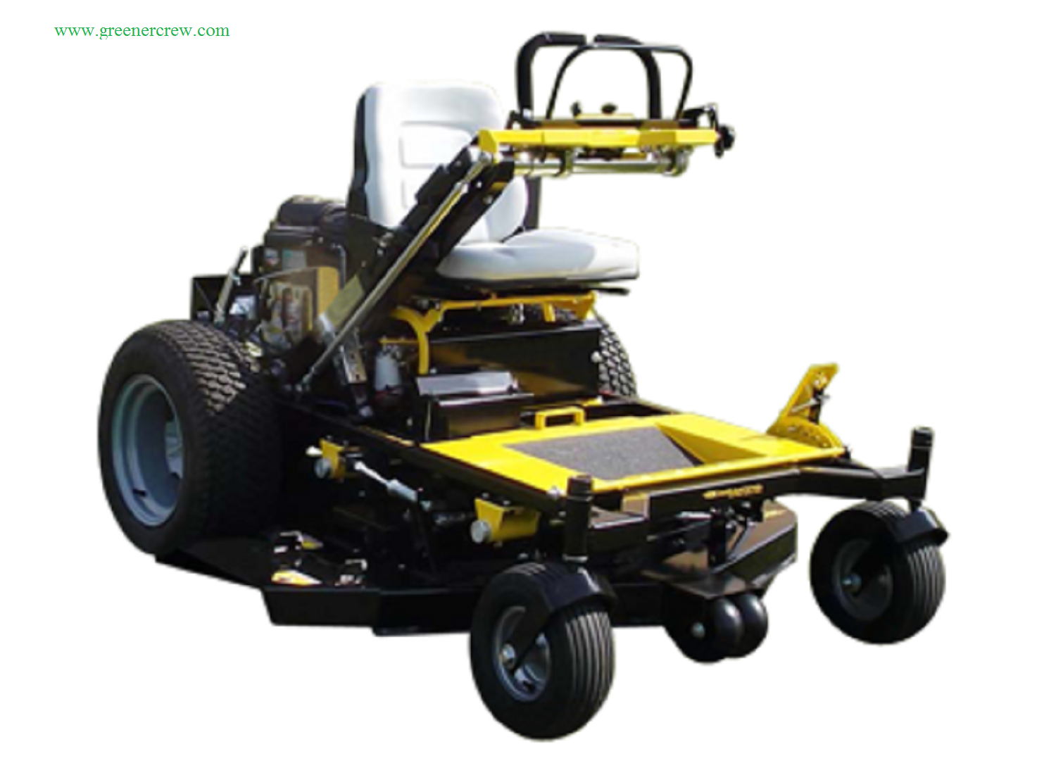 52quot lawn mower converts from a riding mower to a walk