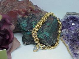 "Judith Ripka Heart Charm Gold Clad Sterling Byzantine Bracelet DMQ 8"" Ne... - $221.76"
