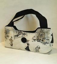 Morgan Paris Purse Chic Handmade Fashion Handbag Tote Black Handles Gray... - $90.00