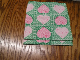 """2 Heart Design Cloth Napkins Pier 1 Imports 100% Cotton 20"""" By 20"""" Never... - $7.99"""