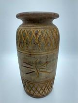 "Hand-thrown Art Pottery Stoneware 14"" Textured Heavy Large Vase - $79.99"