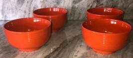Set Of 4 Royal Norfolk Pumpkin Orange CEREAL/SERVING Ribbed BOWL-RARE-BRAND New - $45.42