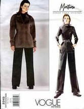 VOGUE 2345 Pattern By Montana Size 12-14 Designer Jacket Pants - $16.00