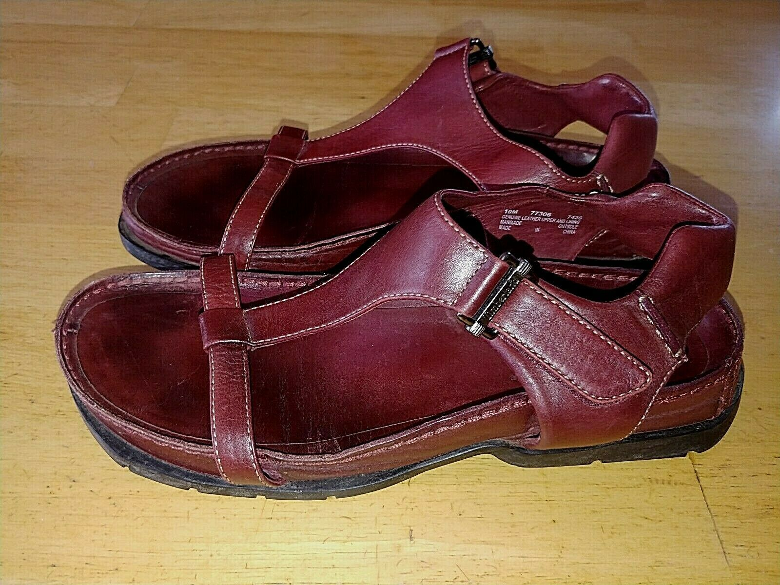 Primary image for TIMBERLAND SMART COMFORT SYSTEM LADIES BURGUNDY LEATHER SANDALS-10M-BARELY WORN